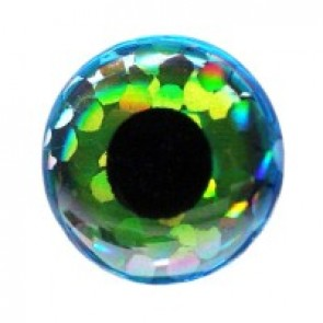 Holographic 3-D Eyes green/blue