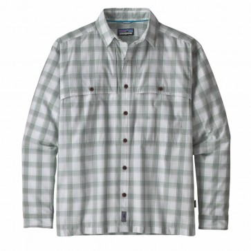 Patagonia Men's LS Island Hopper II Shirt / Celadon