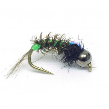 Fluo Green Tungsten Caddis Nymph