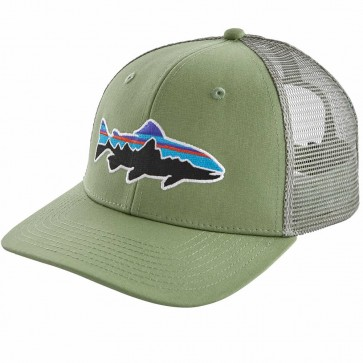 Patagonia Fitz Roy Trout Trucker Hat / Matcha Green