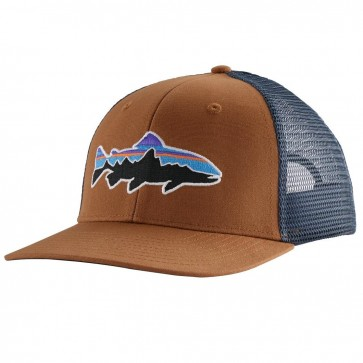 Patagonia Fitz Roy Trout Trucker Hat / Earthworm Brown