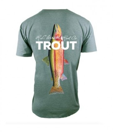 Winston TROUT TECH T-Shirts - Moss Green