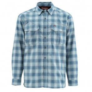 SIMMS ColdWeather Shirt Admiral Blue Plaid