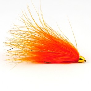Tungsten Conehead Leech Hot Orange