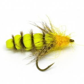 Foam Caddis Pupa Yellow