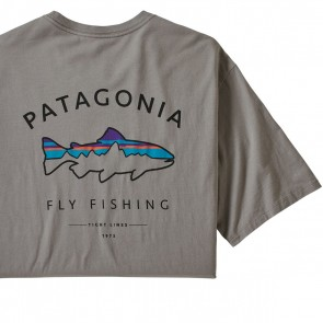 Patagonia Men's Framed Fitz Roy Trout Organic Cotton T-Shirt / Feather Grey