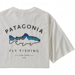 Patagonia Men's Framed Fitz Roy Trout Organic Cotton T-Shirt / White