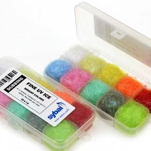 Fine UV Ice Dubbing  Bright Colors