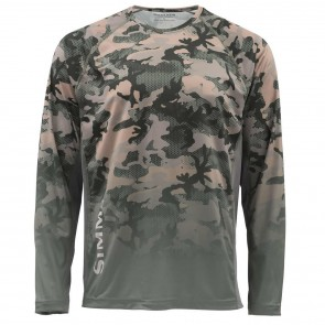 SIMMS Challenger Solar Tech Jersey Hex Flo Camo Timber