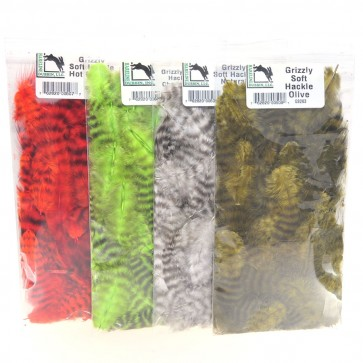 Hareline Grizzly Soft hackle