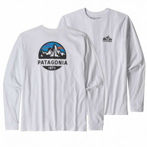 Patagonia Men's LS Fitz Roy Scope Responsibili-Tee / White