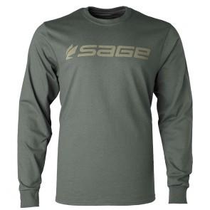 SAGE LS Logo Tee Charcoal