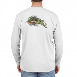 SIMMS Solar Tech Tee Muskie Fly Sterling