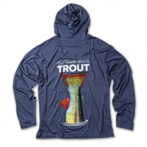 WINSTON TROUT TECH Hooded Fishing Shirts / Navy