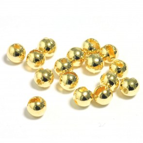 Slotted Tungsten Beads with oval bore / Gold