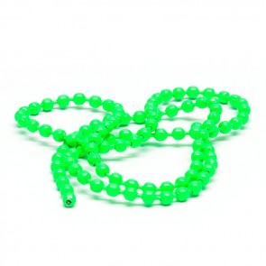 Bead Chain Eyes Fluo Green 3,2mm