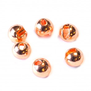 Slotted Tungsten Beads with oval bore / copper