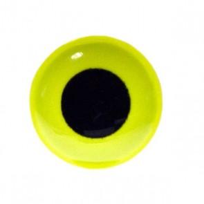 3D Epoxy Eyes Fluo Yellow