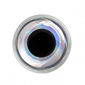 3D Epoxy Eyes Metallic Silver