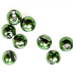 Tungsten Beads Slotted Metallic Green