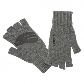 SIMMS Wool Half Finger Glove Steel