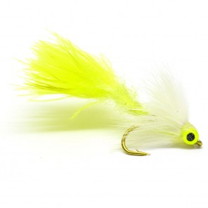 ND Wiggle Tail White / Chartreuse