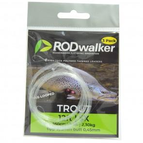 Rodwalker tapered Leaders 12' [3-pack] pre-looped