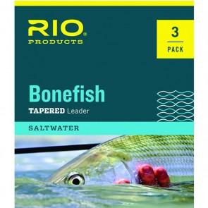 Rio Bonefish leaders 3-pack