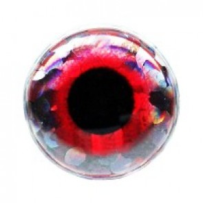 Holographic 3-D Eyes Red